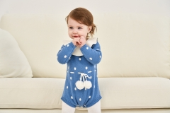 fashionable pompom sweater for baby and toddler