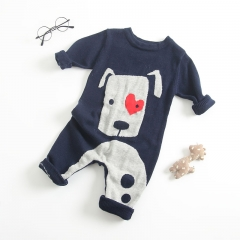 cute cartoon animal long-sleeve overalls romper for baby girl & boy