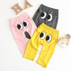 Casual solid stretchy pants for baby and toddler