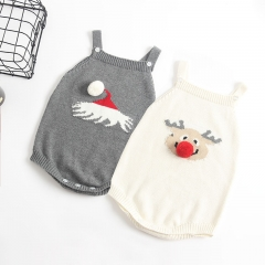 Christmas knitting sweater onesie for baby