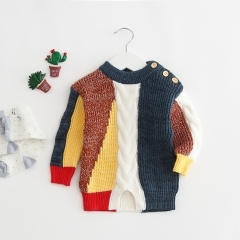 joining together with different color baby sweater in spring autumn & winter