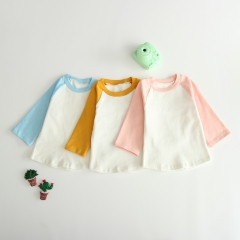 double color spring-autumn long-sleeve T-shirt for 0-2 years old baby