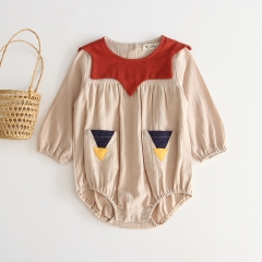 0-2 infant baby long-sleeve romper in autumn