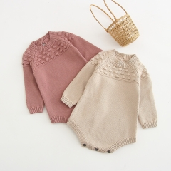 pompom stylish & fashionable long-sleeve romper for baby in autumn wholesale