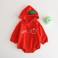 long-sleeve with hat romper for baby 0-2 in autumn wholesale