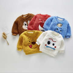 lovely cartoon fleece for baby boy & girl 0-2 years in winter wholesale