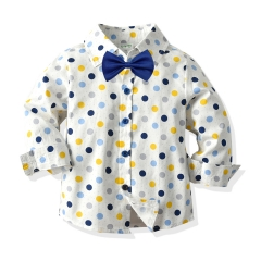2020 new arrival baby boy European style shirt with printed cartoon design wholesale