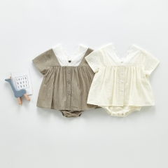 Newborn Toddler Kids Baby Girls Infant Dress Romper Jumpsuit Outfits Casual Short Sleeve Summer Baby Dresses Wholesale