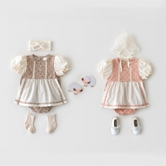 Baby Girls Dress Fashion Kids Party Wear Summer Dresses Conice Girls Dress Wholesale