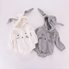 Rabbit ear funny baby clothing solid baby clothes rompers wholesale