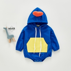 Toddler Baby Boys Coat Clothes Long Sleeve Heart Hoodie Romper Kids Clothes Wholesale