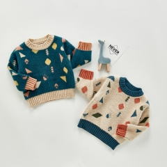 Comfortable breathable warm cartoon children's sweater wholesale