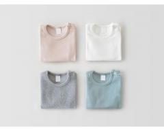 Baby Girls Solid Long Sleeve T-shirt Baby Clothes Supplier Wholesale