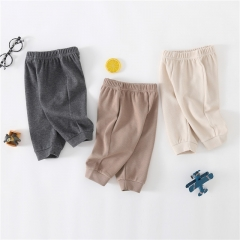 Baby boy solid pants wholesale in spring