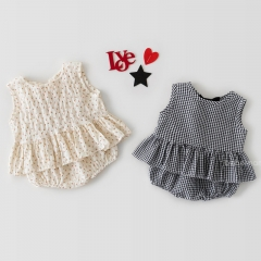 2021 new arrival sleeveless floral print sets for baby girl 0-2Y wholesale