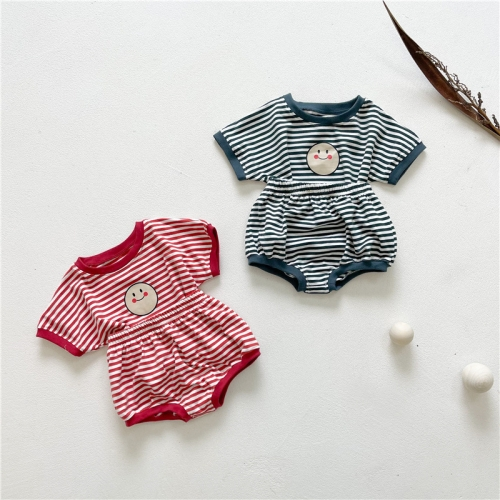 2021 baby boy girl summer strips sets wholesale